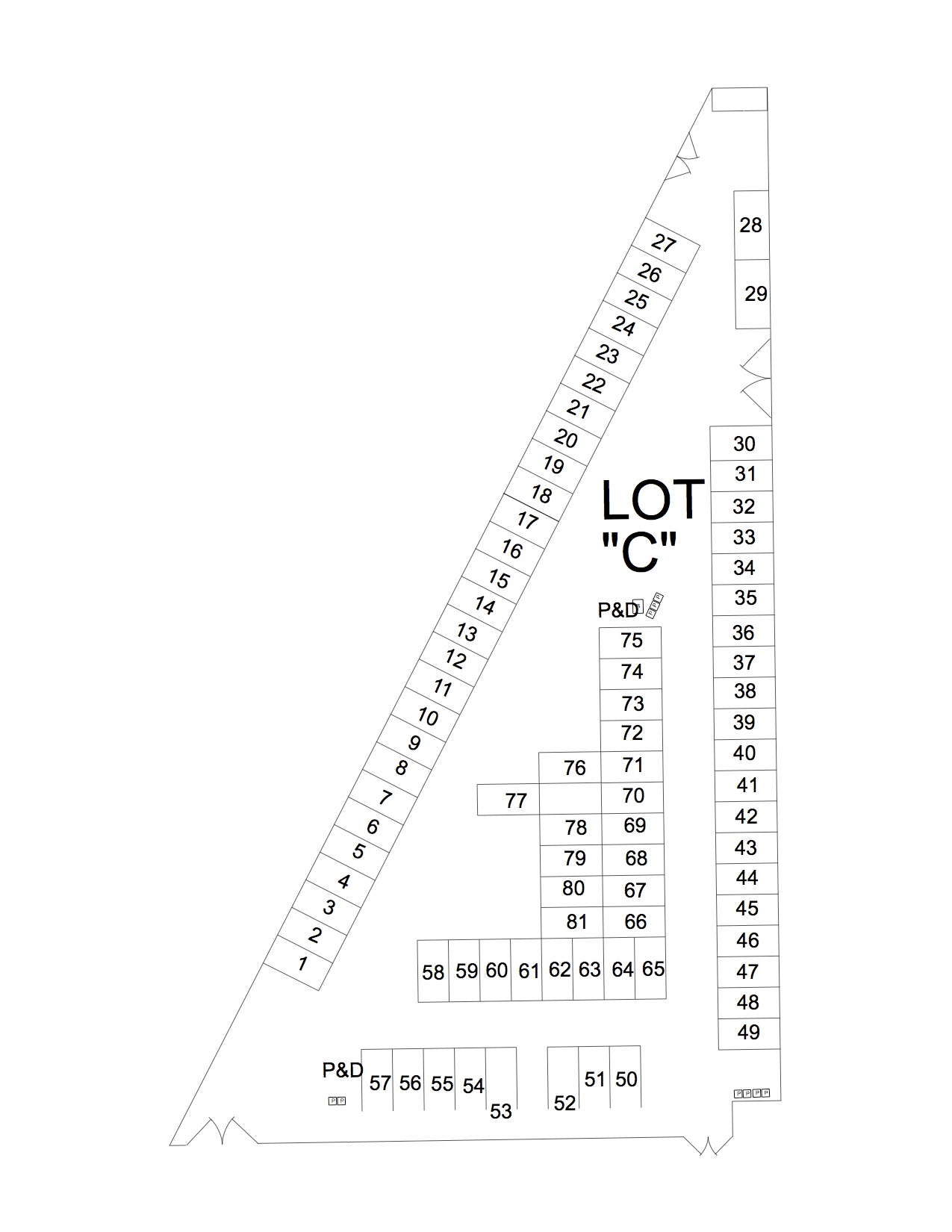 Mule Days Lot C Map