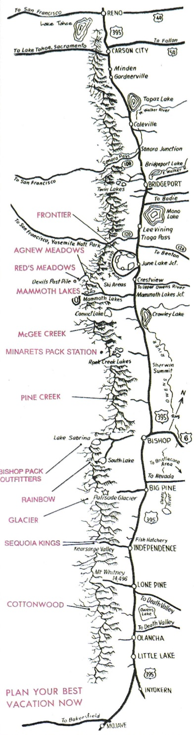 High Sierra Packers Map