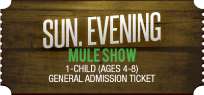 Mule Days Ticket Mule Show Bishop CA