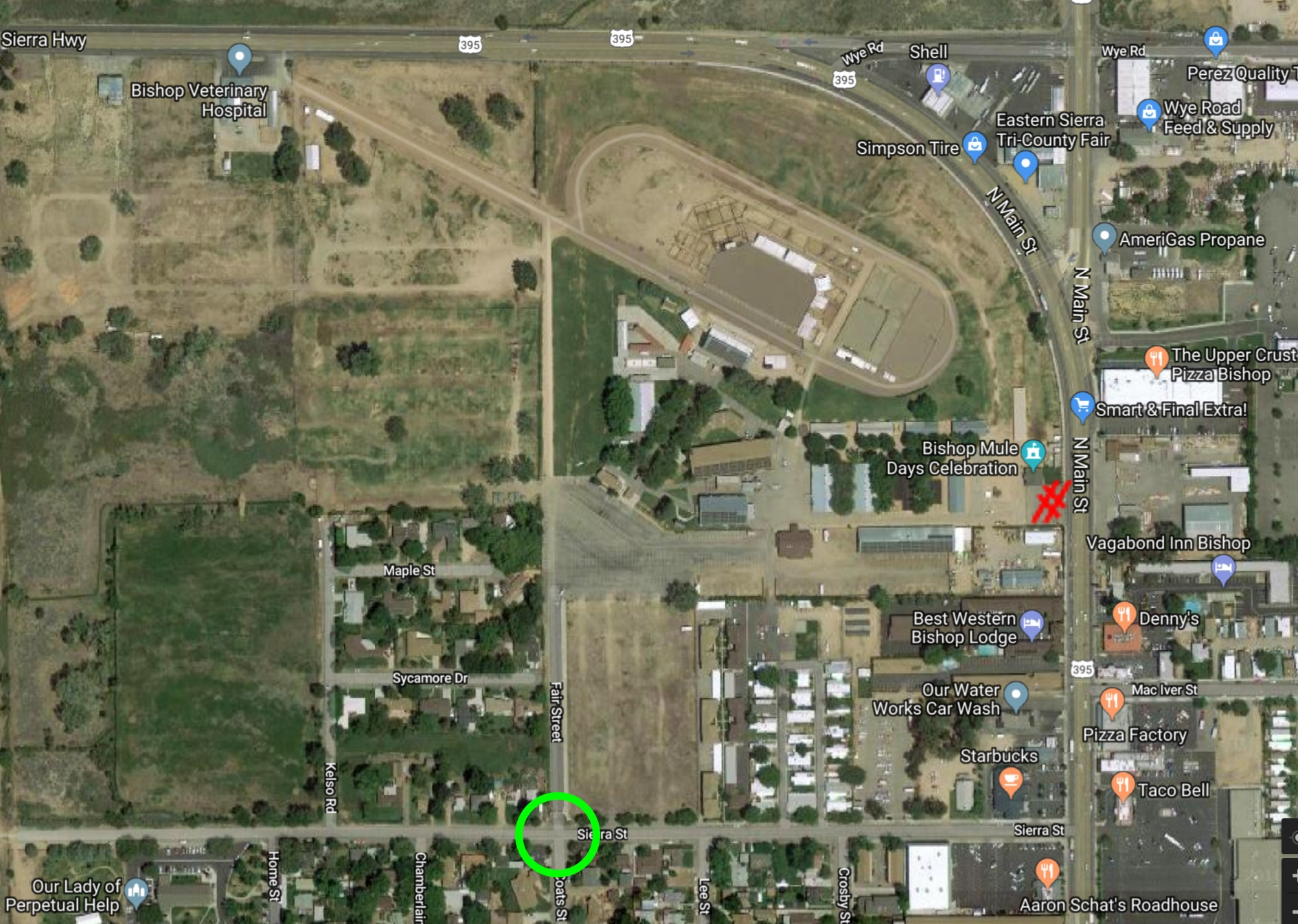 Mule Days Fairgrounds Google Satellite Map