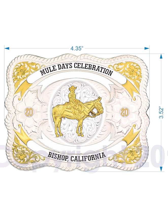 2020 Mule Days Celebration Buckle