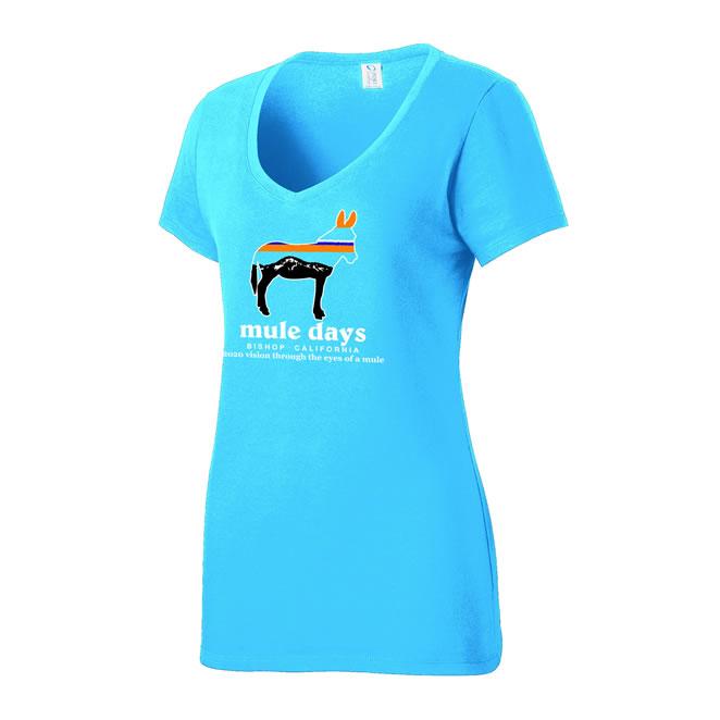 Mule Days Womens Tee - Sapphire